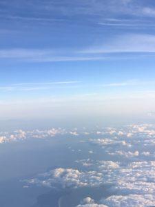 「つながった大地と空」Photo by Yasuyo Watanabe,台湾→日本上空,August 2018