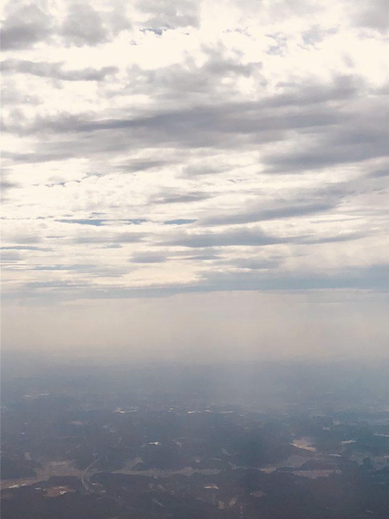 「世界の捉え方~陽~」Photo by Yasuyo Watanabe,日本→台湾上空,September 2018