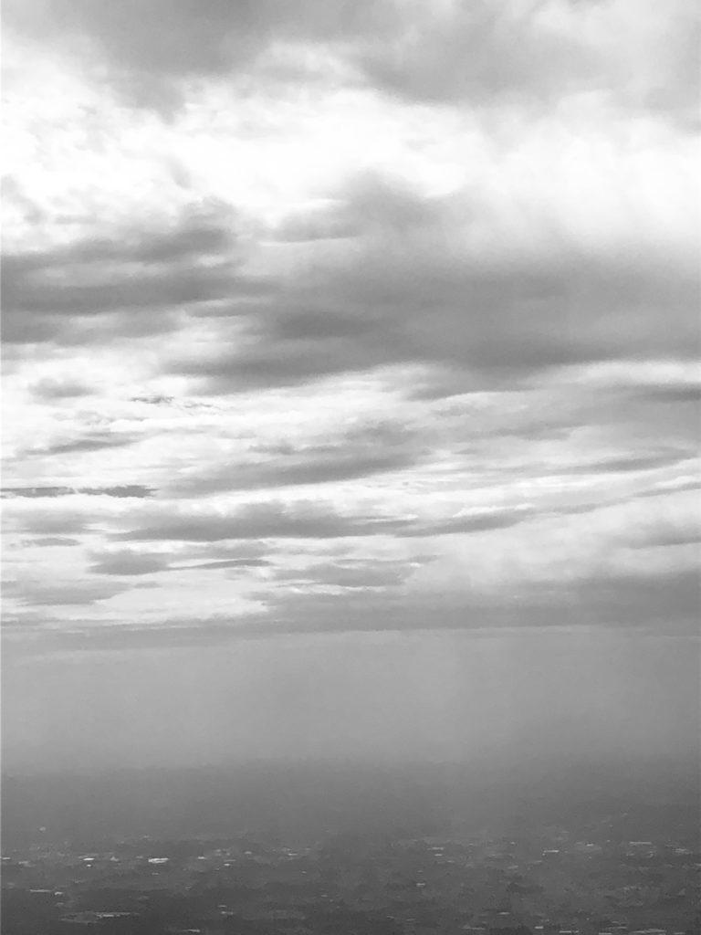 「世界の捉え方~陰~」Photo by Yasuyo Watanabe,日本→台湾上空,September 2018