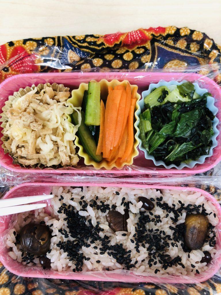 「心身のバランスを整える、野菜たっぷり弁当」Photo by Yasuyo Watanabe,埼玉県入間市,October 2018