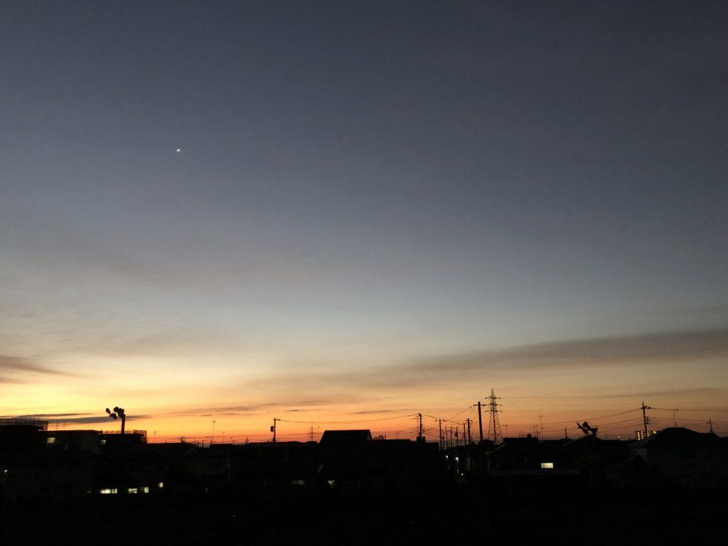 「夜と朝の交差点 ~魂の目覚めを促すメロディーを~」Photo by Yasuyo Watanabe,埼玉県入間市,November 2018